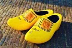 Traditionella skor i Zaanse Schans, Holland Arkivbilder