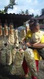 Traditionella smällare från Indonesien Arkivfoto