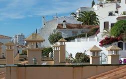 Traditionella spanska byggnader Nerja Royaltyfri Bild