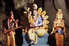 Traditionella statyer av den hinduiska guden i den Batu grottan, Kuala Lumpur, Malaysia arkivbild
