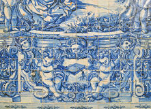 Traditionella tegelplattor från Portugal Arkivbilder