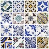 Traditionella tegelplattor från Porto, Portugal Fotografering för Bildbyråer