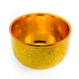 Traditionella thailändska guld-ware på isolerad vit bakgrund Fotografering för Bildbyråer
