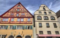 traditionella tyska hus Arkivfoto