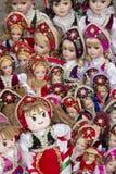 Traditionella ungerska souvenirdockor arkivfoton