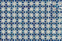 Traditionella utsmyckade portugisiska dekorativa tegelplattaazulejos för tappning Arkivfoton