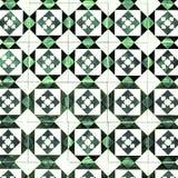 Traditionella utsmyckade portugisiska dekorativa tegelplattaazulejos för tappning Arkivfoto