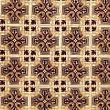 Traditionella utsmyckade portugisiska dekorativa tegelplattaazulejos för tappning Royaltyfria Bilder