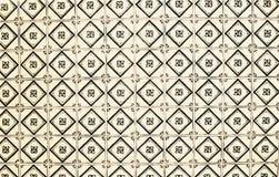 Traditionella utsmyckade portugisiska dekorativa tegelplattaazulejos för tappning Royaltyfri Fotografi