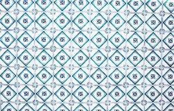 Traditionella utsmyckade portugisiska dekorativa tegelplattor för typisk tappning Fotografering för Bildbyråer