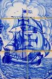 Traditionella utsmyckade portugistegelplattor arkivbild