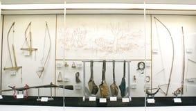 Traditionella vapen av tribals av norr östliga Indien Royaltyfria Bilder