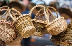 Traditionella vide- korgar Fotografering för Bildbyråer