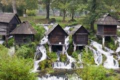 Traditionella watermills Arkivfoton