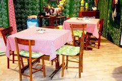Traditionelle Abendessenzeit im Landplatz Stockbilder