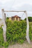 Traditionelle afrikanische Hütte Lizenzfreies Stockbild