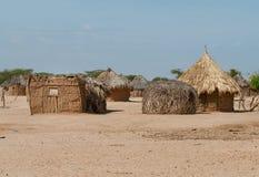 Traditionelle afrikanische Hütten Lizenzfreies Stockbild