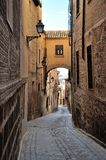 Traditionelle alte spanische Straße toledo Lizenzfreies Stockbild