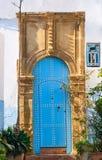 Traditionelle alte Tür in Kasbah des Udayas rabat marokko Stockfotos