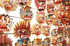 Traditionelle Andenkenschablonen des Teufels Lizenzfreie Stockfotos