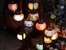 Traditionelle arabische Lampen stockfoto