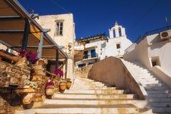 23 06 2016 - Traditionelle Architektur in der alten Stadt von Naxos Lizenzfreie Stockfotografie