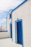 Traditionelle Architektur in Santorini Lizenzfreie Stockfotos