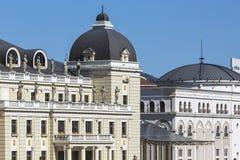 Traditionelle Architektur in Skopje, Mazedonien lizenzfreies stockfoto
