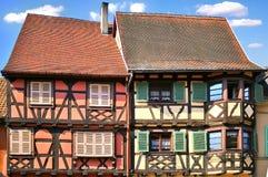 Traditionelle Architektur von El'zas, Frankreich Lizenzfreie Stockbilder