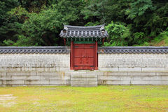Traditionelle Architektur-Wand Koreas stockfotografie