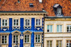 Traditionelle Architektur in Warschau, Polen Stockfotografie