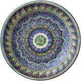 Traditionelle runde Platte Mittleren Ostens Lizenzfreies Stockbild