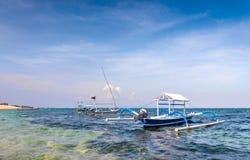 Traditionelle Balineseboote lizenzfreie stockfotos