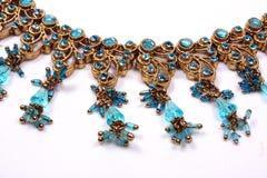 Traditionelle blaue Halskette Stockfotos