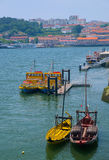 Traditionelle Boote auf Duero-Fluss Lizenzfreies Stockbild