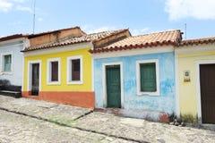 Traditionelle brasilianische portugiesische Kolonialarchitektur Stockbilder