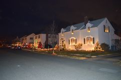 Traditionelle cristmass Dekoration in Boston, USA am 11. Dezember 2016 Lizenzfreie Stockfotografie