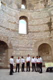 Traditionelle dalmatinische Sänger Stockfotos