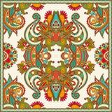 Traditionelle dekorative Blumen-Paisley-Bandanna Stockfoto