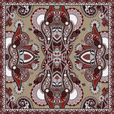 Traditionelle dekorative Blumen-Paisley-Bandanna Stockfotografie