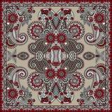 Traditionelle dekorative Blumen-Paisley-Bandanna Lizenzfreie Stockbilder