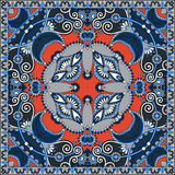 Traditionelle dekorative Blumen-Paisley-Bandanna Lizenzfreies Stockbild