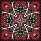 Traditionelle dekorative Blumen-Paisley-Bandanna Lizenzfreies Stockfoto