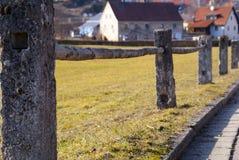 Traditionelle deutsche Landstadt Lizenzfreies Stockbild