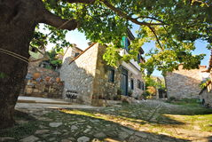 Traditionelle Dorfszene Stockbild