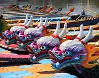 Traditionelle Drache-Boote in Taiwan Lizenzfreie Stockfotografie