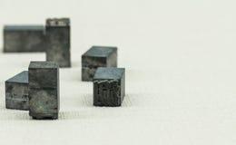Traditionelle Drucktype Lizenzfreies Stockfoto