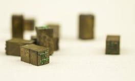Traditionelle Drucktype Lizenzfreie Stockbilder