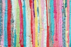 Traditionelle Farbteppichbeschaffenheit stockbild
