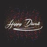 Traditionelle Feier der Vektorillustration des glücklichen diwali Festival von beleuchteten Lampen der Lichter elegantes Öl Indie Lizenzfreies Stockbild